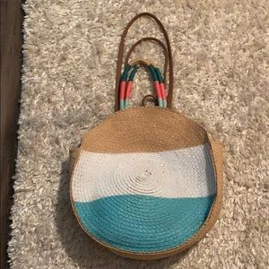 Bags - Pastel color straw bag